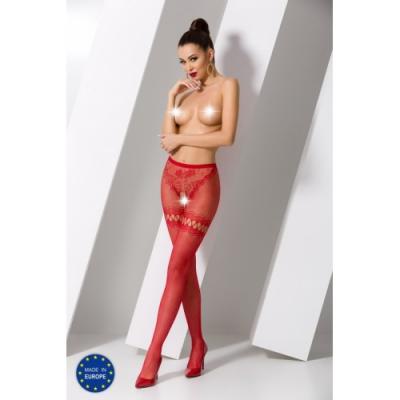 Красные эротичные колготки сетка с доступом S015