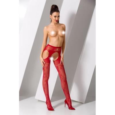 Красные секси колготки сетка с доступом S022