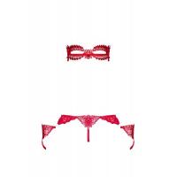 Пикантный красный комплект Hetea L/XL