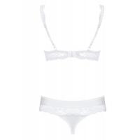 Белый комплект белья с кружевом Miamor S/M