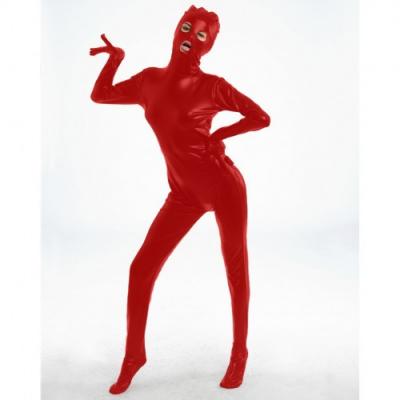 Красный блестящий боди-комбинезон M