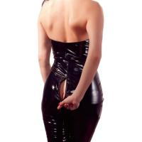 Комбинезон лаковый черный XL