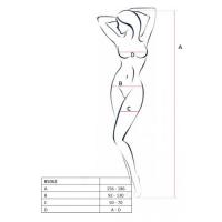 Сексуальный боди-комбинезон белого цвета, BS062, размер S/L