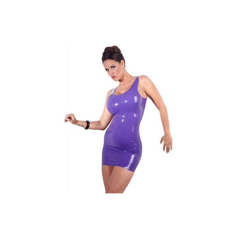 Фиолетовое мини-платье из латекса M