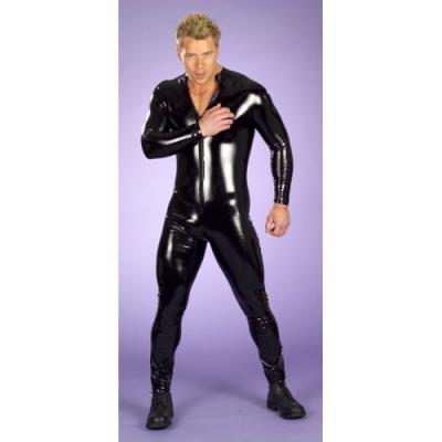Черный мужской комбинезон из спандекса