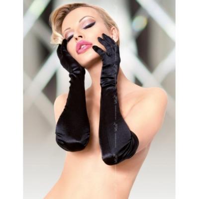 Длинные черные перчатки S/L