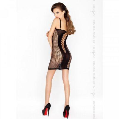 Соблазнительное платье в сеточку черное