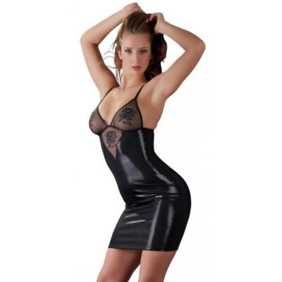 Черное платье с вышивкой L