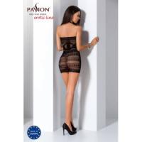 Сексуальное полупрозрачное платье-сетка черного цвета S/L