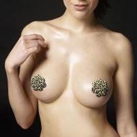Набор леопардовых пэстисов Leopard Sexy Nipple Pasties
