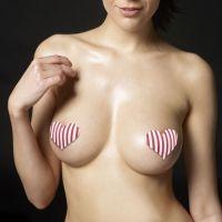 Набор интригующих пэстисов для груди Cross and Heart Nipple Pasties