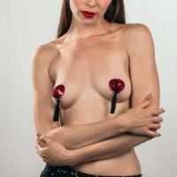 Пэстисы с кисточками Burlesque Gipsy красные