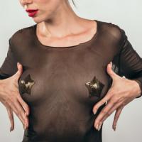 Пэстисы-звезды Burlesque Tempest золотистые