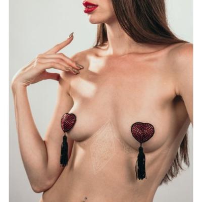 Пэстисы с кисточками Burlesque Evans черно-красные