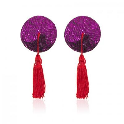 Фиолетовые пэстисы с красными кисточками