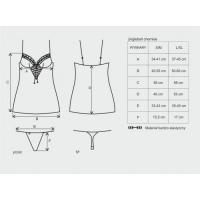Женская новогодняя сорочка Jinglebell со шнуровкой со стрингами L/XL