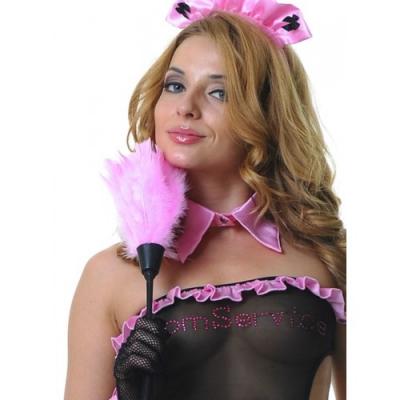 Щеточка горничной розовая