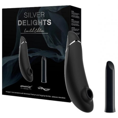 Набор стимуляторов Silver Delights Womanizer Premium + We-Vibe Tango, серебристый