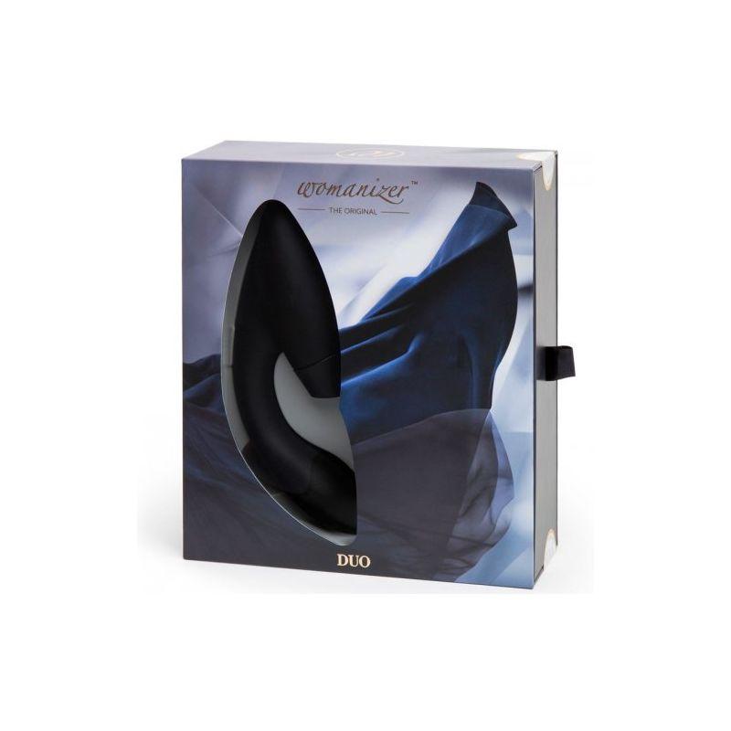 Роскошный бесконтактный клиторальный стимулятор со стимуляцией G точки Womanizer Duo черный