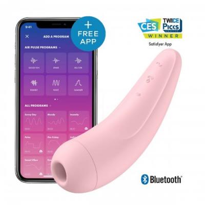 Вакуумный стимулятор Satisfyer Curvy 2+ Pink с дистанционном управлением