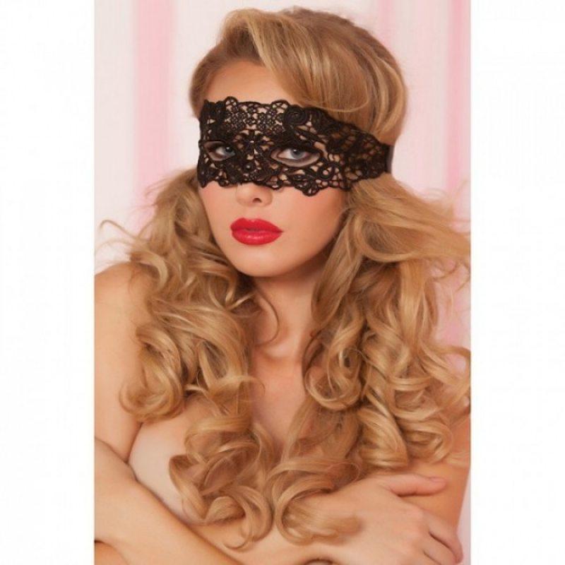 Ажурная черная маска на глаза