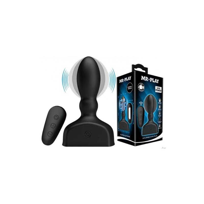 Расширяющаяся анальная пробка Mr.Play с вибрацией и дистанционным управлением