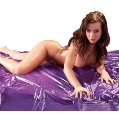 Простынь виниловая 200х230 см фиолетовая