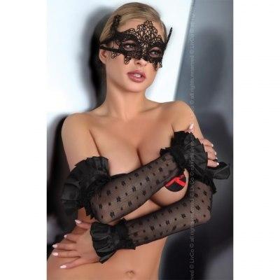 Черная кружевная маска Mask Black Model 2