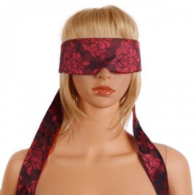 Сатиновая маска с лентами на глаза