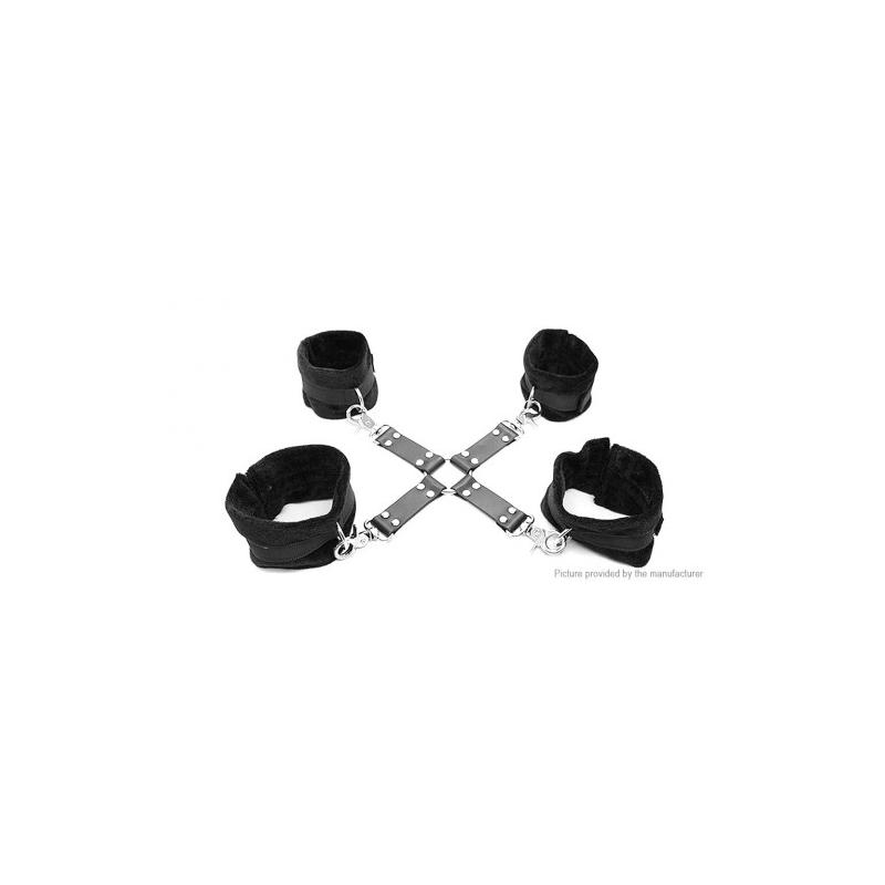 Бондажные наручники и понож на липучках