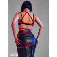 Красная веревка для бондажа Party Hard Tender 10 метров