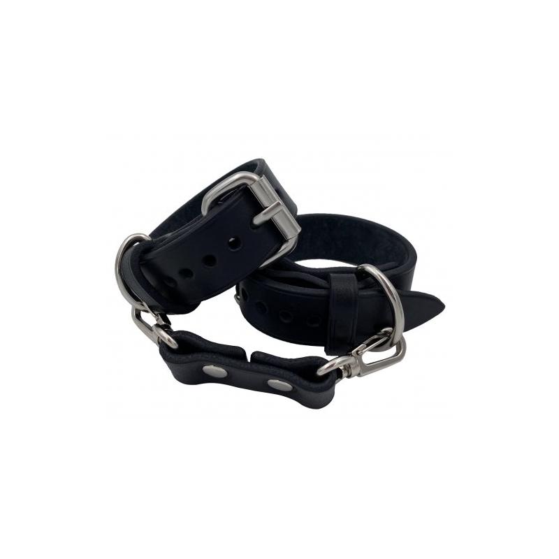 Классические наручники из натуральной кожи