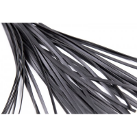 Плеть черная с лакированной ручкой