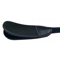 Классический черный стек с широким шлепком  60 см