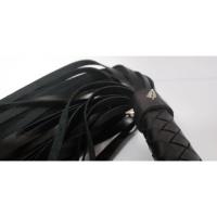 Шикарная кожаная плеть с шипами Hand Made длина хлыстов 38 см