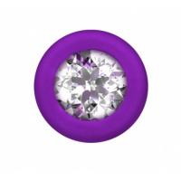 Анальная цепочка с кристаллом Emotions Chummy Purple