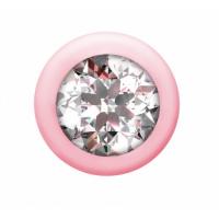Анальная цепочка с кристаллом Emotions Buddy Pink