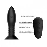 Анальная пробка Mr.Play с вибрацией и ротацией с беспроводным управлением