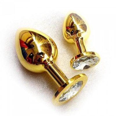 Анальное украшение Golden Plug Small прозрачный