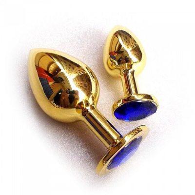 Анальное украшение Golden Plug Small синий