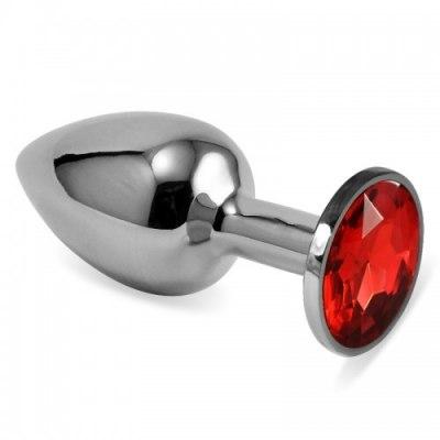 Мини-плаг из стали с кристаллом Red Passion