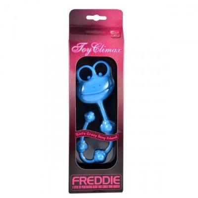 Универсальный силиконовый стимулятор голубой Freddie