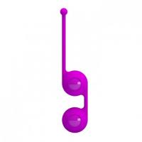 Утяжелённые вагинальные шарики со смещённым центром тяжести фиолетовые