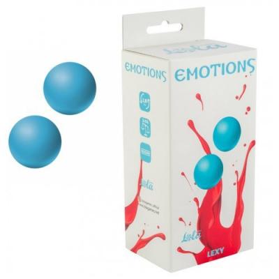 Вагинальные шарики без сцепки Emotions Lexy medium, голубые