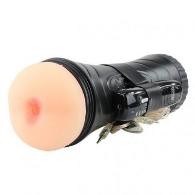 Мастурбатор-попка в колбе с 7 режимами вибрации Pink Butt