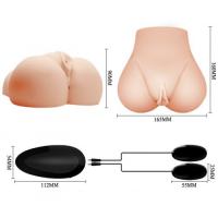 Реалистичный мастурбатор Crazy Bull попка и вагина с двойным виброяйцом