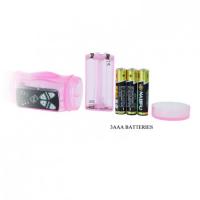 Женский вибратор-ротатор со стимулятором клитора розовый