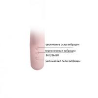 Вибратор с клиторальным стимулятором светло-розовый Selene