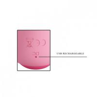Гибкий вибратор с клиторальным стимулятором Pretty Love Zachary нежно-розовый