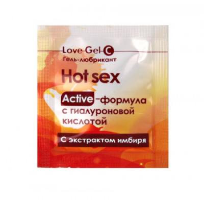 Разогревающий гель-любрикант LoveGel C 4 гр, пробник